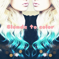22' Ombre Colored Clip In Human Hair Extensions (1 Piece)