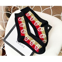 GUCCI Newest Fashionable Women Casual Cotton Sport Socks