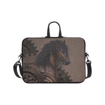 Personalized Laptop Shoulder Bag Steampunk Horse Handbags 17 Inch