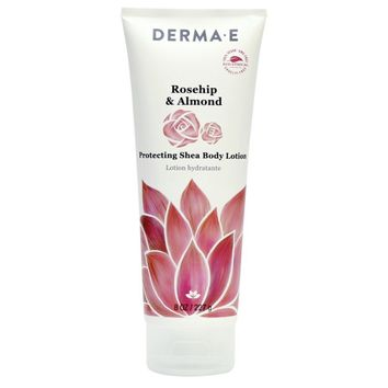 Derma E Body Lotion, Rosehip, Almond - 8 Oz