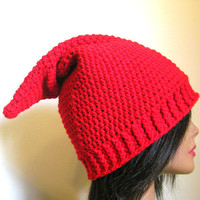 Red Gnome Hat, Adult Gnome Hat