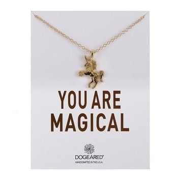 Unicorn Card Alloy Clavicle Pendant Necklace  171208