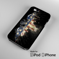 New American Eagle Flag Watercolor A1516 iPhone 4S 5S 5C 6 6Plus, iPod 4 5, LG G2 G3, Sony Z2 Case
