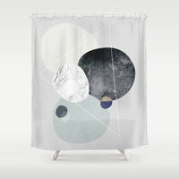 Graphic 89 Shower Curtain by Mareike Böhmer Graphics