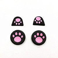 Thumb Grip Stick Joystick Cover Caps + Trigger Buttons Sticker for PS4 Controller L2 R2 Button Protective (Pink)