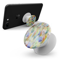Vivid Watercolor Feather Overlay - Smartphone Extendable Grip & Stand Skin Kit