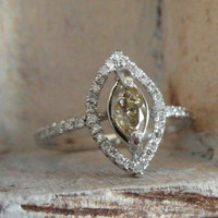 Dazzling marquise one of a kind weddind ring14k by EnzoLuccati