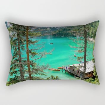 Pragser Wildsee Rectangular Pillow by Gallery One