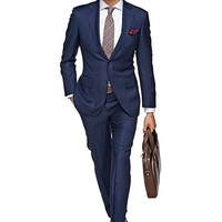 Suit Blue Plain Napoli P3458i | Suitsupply Online Store
