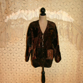 Vintage Hippie Jacket Velvet Patchwork Jacket Bohemian Gypsy Fall Velvet Coat Patchwork Coat Bohemian Clothing Medium Large Womens Clothing