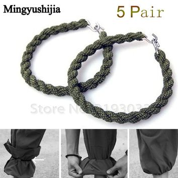 Tactical Army Leggings Elastic Rope Trouser Leg Strap Boot Bike Riding Bushcraft Outdoor EDC Web Tool camp hike climb accessory