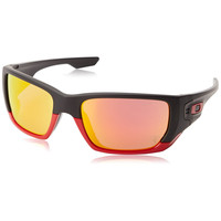 Oakley Men's Style Switch Scuderia Ferrari Matte Black Frame Ruby Iridium Lens Sunglasses