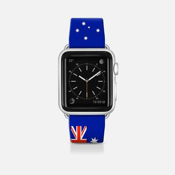 Australia flag - Patriot collection Apple Watch Band (42mm)  by WAMDESIGN | Casetify