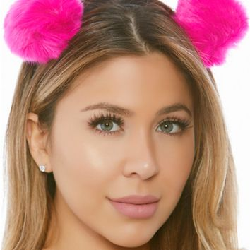 Plush Puff Balls Headband