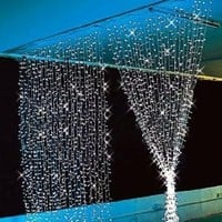 Ghope 400 LED Curtain Lights, 3 x 3-Meter, White