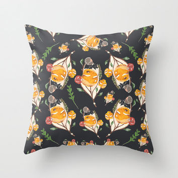 Dark & Yellow Floral Throw Pillow Cover - Home Decor Collection