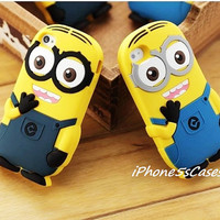 Despicable Me, iPhone 5S Case, Minion iphone case, minion iPhone 5 case, Cute Soft iPhone 4s Case, Minion iPhone 4 case, Disney Anime case