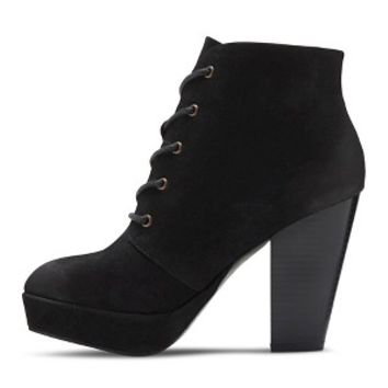 Women's Susann Heeled Booties - Black 9.5 : Target