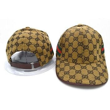 Trendy GUCCI Unisex Embroidery Sports Sun Hat Baseball Cap Hat