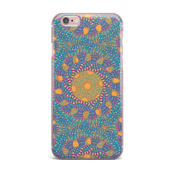 "Miranda Mol ""Prismatic Orange"" Orange Blue Abstract iPhone Case"