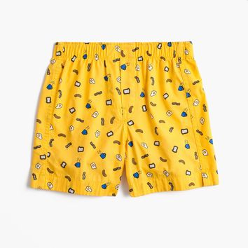 Boys' breakfast-print boxers
