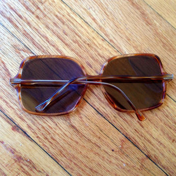 Vintage 70s Oversized Sunglasses - Tortoise Shell Sunglasses Bug Eye Sunglasses Tortoise Sunglasses Brown Sunglasses