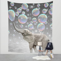 The Simple Things Are the Most Extraordinary (Elephant-Size Dreams) Wall Tapestry by Soaring Anchor Designs