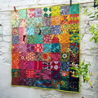 Bright Boho Liberty Lap Quilt, Traditional Quilt Design