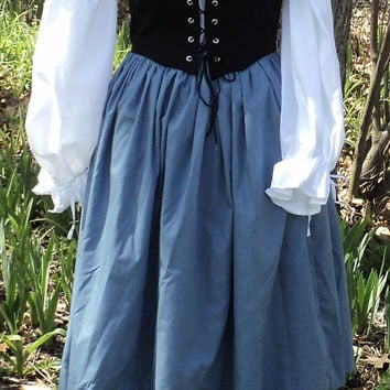 Colonial ball gown Revolutionary War from HeritageDressmakers on