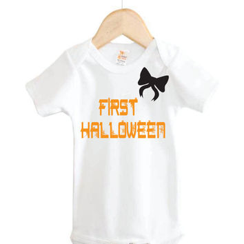 Baby Girl First Halloween Onesuit // baby girl halloween Onesuit // Holiday Onesuit // Halloween