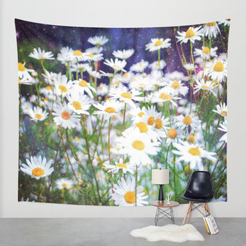 Daisy Dream Wall Tapestry by Jenndalyn