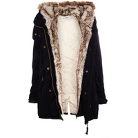 Pull & Bear Parka With Fur Hood
