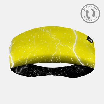 Lightning Yellow Black Headband