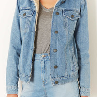 MOTO Vintage Borg Denim Jacket - Topshop USA