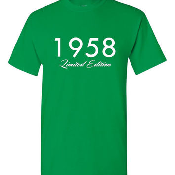 1958 Limited Edition Birthday T Shirt Great Gift Born In 1958 Happy 56th Birthday T Shirt Great Birthday Gift 25 Colors & All Styles