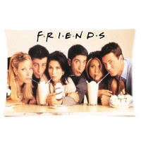 "Friends Tv Show Tv Actor Print Pillow Case Protector Rectangle Pillow Case Cover One Side 16""x24"""