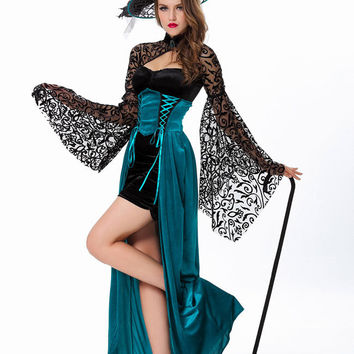 Sexy Witch Costume Deluxe Adult Womens Magic Moment Costume Adult Witch Halloween Fancy Dress