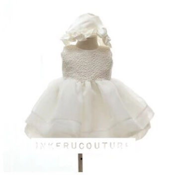 High Quality Baby Girls Elegant Communion Dresses NEW Child Sleeveless Princess Party Wedding dress Christening Gown girls A688