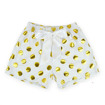 Kid PP Pants Gold Dot Glitter Polka Bloomer Cotton Ruffle Romper Pant Newborn Summer Style Children Cotton Pompom Clothes
