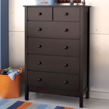Kids Dressers 2 Over 4 Drawer Espresso Simple Dresser