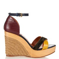 Calf-hair and leather espadrille wedges | Lanvin | MATCHESFASHION.COM US
