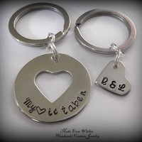 Long Distance Relationship Key Chain Set My by MadeFromWithin