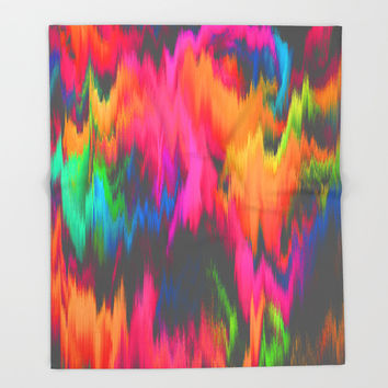 Rainbow Sweat Throw Blanket by J.Lauren