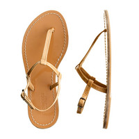 Girls' patent T-strap sandals - flip-flops & sandals - Girl's shoes - J.Crew