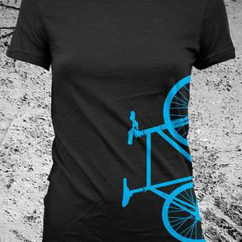Fixed Gear Bicycle Fixie Bike Shirt Female by Iheartanalogue