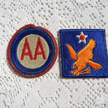 US Army Air Force World War II Uniform Patches, Military Collectibles