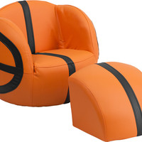 Kids Basketball Chair and Footstool