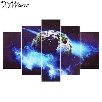 5Pcs Mini Modern Abstract Earth Pattern Landscape Canvas Painting Art Picture Murals For Home Room Hotel Wall Decor NO Frames