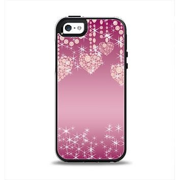 The Pink Sparkly Chandelier Hearts Apple iPhone 5-5s Otterbox Symmetry Case Skin Set
