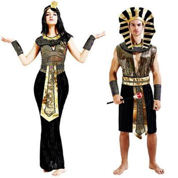Cool Christmas Exotic Cleopatra Egyptian Pharaoh Costumes For Men Women New Year Purim Party Princess Cosplay Masquerade PartyAT_93_12